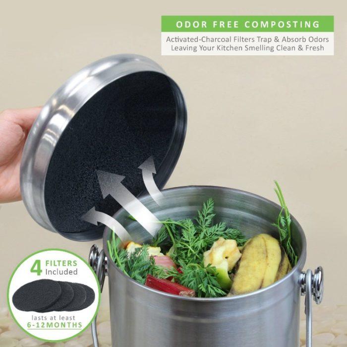 linkyo compost bin odor protection