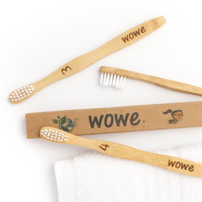 wowe natural bristle brushes kids